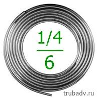 1/4'-15 Труба алюминиевая 6.35мм (толщ.1мм) 15м
